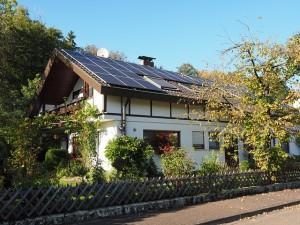 hjem med solceller
